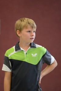 Bislang noch ohne Einzel-Niederlage - Jakob Welser von der U18 IV
